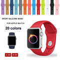 42 140 Silicone Colorful Band With Connector Adapter For Apple Watch 42mm Strap For iWatch Series 1 Series 2 Sports Bracelet