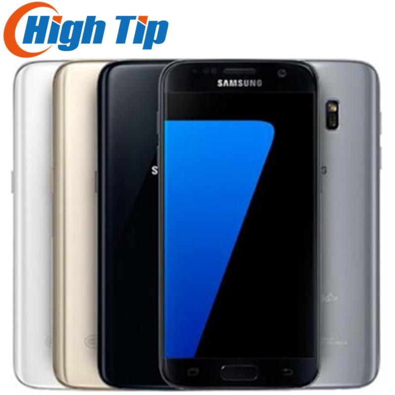 Samsung Galaxy S7 téléphone portable Original LTE 4G Quad Core 5.1 ''12.0MP NFC WIFI 4G RAM 32G ROM Smartphone