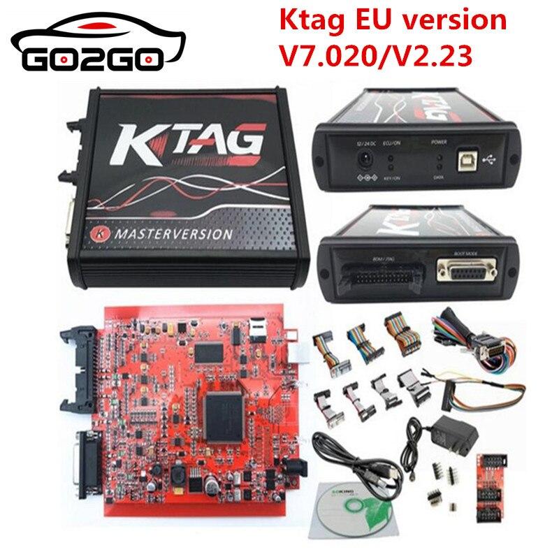 KESSV2 KESS V2 V5.017 EU Red V2.47/V2.23 ECM Titanium KTAG V7.020 4 LED Online Master Version ECU OBD2 car/truck Programmer tool
