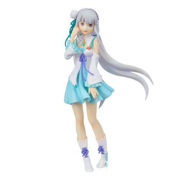 20CM pvc Japanese anime figure Different world life from scratch Emilia standing posture action figure collectible model toys 20cm anime life no game no life shiro game of life painted second generation game of life 1 7 scale pvc action figure model