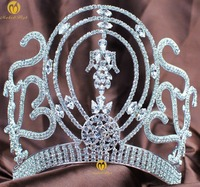 6 Adjustable Miss Univer Classic Princess Hair Jewelry Accessories For Party Prom Shows Headwear Pageant Crown Tiaras