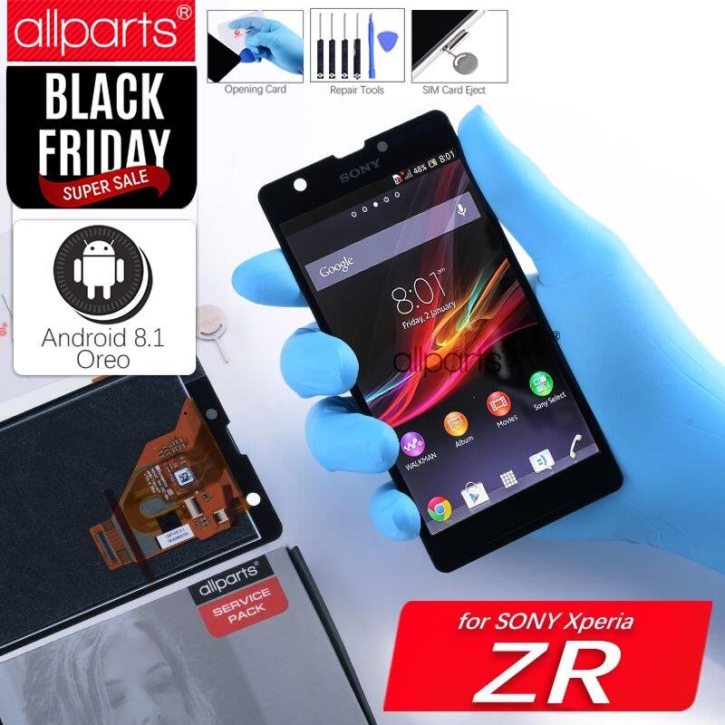 Original 4,6 ''Display Für SONY Xperia ZR Display Touchscreen Digitizer Montage Ersatz ZR LCD M36h C5502 C5503