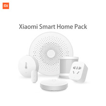 Xiaomi Smart Home Kit Mijia Gateway Door Window Human Body Sensor Temperature Humidity Sensor Wireless Switch Zigbee Socket cube xiaomi aqara smart home kits gateway hub door window sensor human body wireless switch humidity water sensor for apple homekit