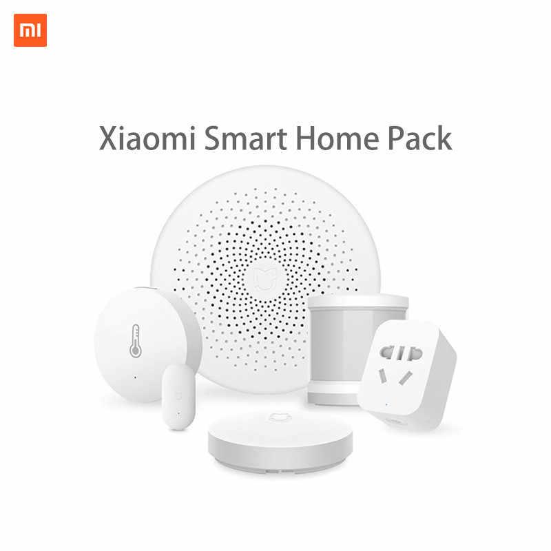 Xiaomi Smart HomeชุดMijia Gatewayประตูหน้าต่างBody Sensorอุณหภูมิความชื้นเซนเซอร์สวิทช์ไร้สายZigbeeซ็อกเก็ตCube