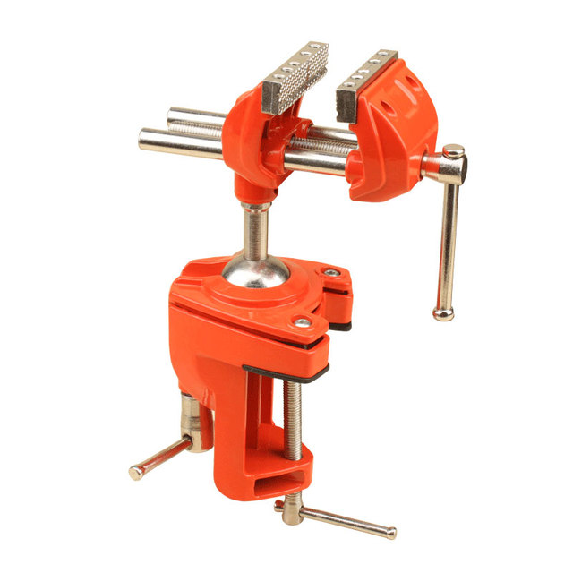 patent universal multi angle swivel steel table vise grip 70mm
