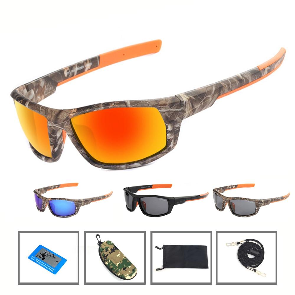 NEWBOLER Camo Sunglasses Polarized Men Fishing Spectacles Driving Cycling Sport Glasses oculos de sol Fishing Equipment Eyewear