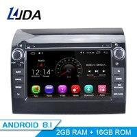 LJDA Android 8.1 Car DVD Player For Fiat Ducato 2009 2010 2011 2012 2013 2014 2015 Citroen Jumper Peugeot Boxer 1 Din Radio GPS