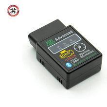 Мини-сканер HH OBD ELM327 Bluetooth OBDII, автомобильный диагностический инструмент elm327 obd2, ELM 327, работает на Android Torque, бесплатная доставка