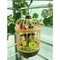 The electric induction of the sound control small bird cage calls the parrot who will talk Decoration Art Wanlang