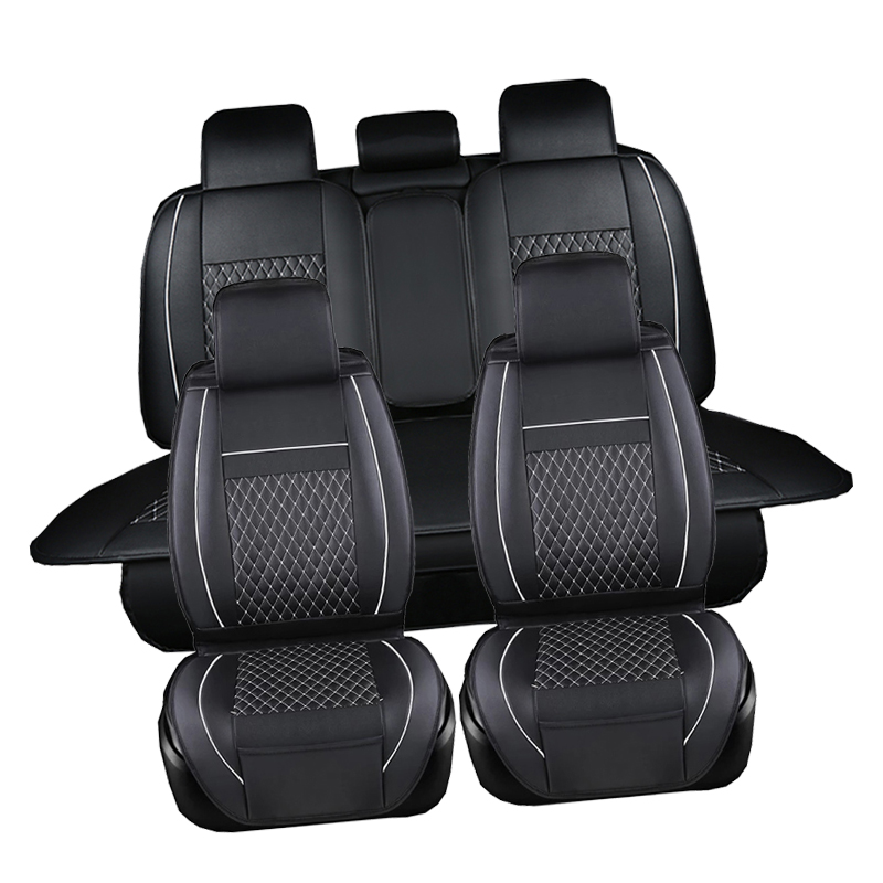 PU Leather Automotive Universal Car Seat Covers t-shit Fit seat cover accessories for kia aio ford focus 2 lada granta Toyota 9pcs set coffee color pu leather universal auto car seat covers automobile seat cover chair cushion for lada kalina toyota suzu