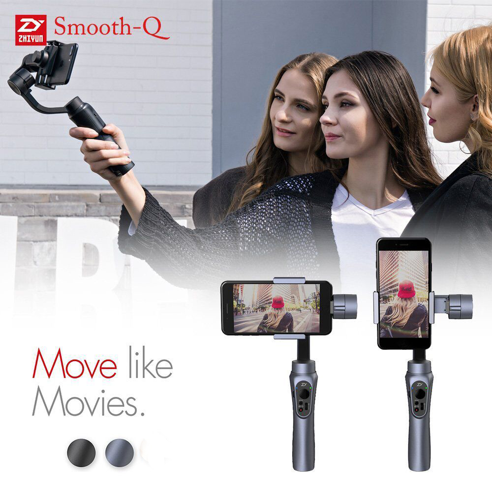 Zhiyun Smooth-Q 3-Axis Handheld Gimbal Stabilizer for Smartphone like iPhone Samsung and Gopro Action Camera 5 4 3