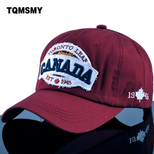TQMSMY High Quality letter CANADA 1945 maple embroidery Men's Baseball Cap Police Cap Unisex Hat Adults Snapback Hats TMBS05