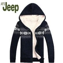 2016 AFS JEEP/Battlefield Jipu Цю зима новый мужчин плюс густые волосы пальто куртки мужские с капюшоном свитер джемпер свитер прилив 130