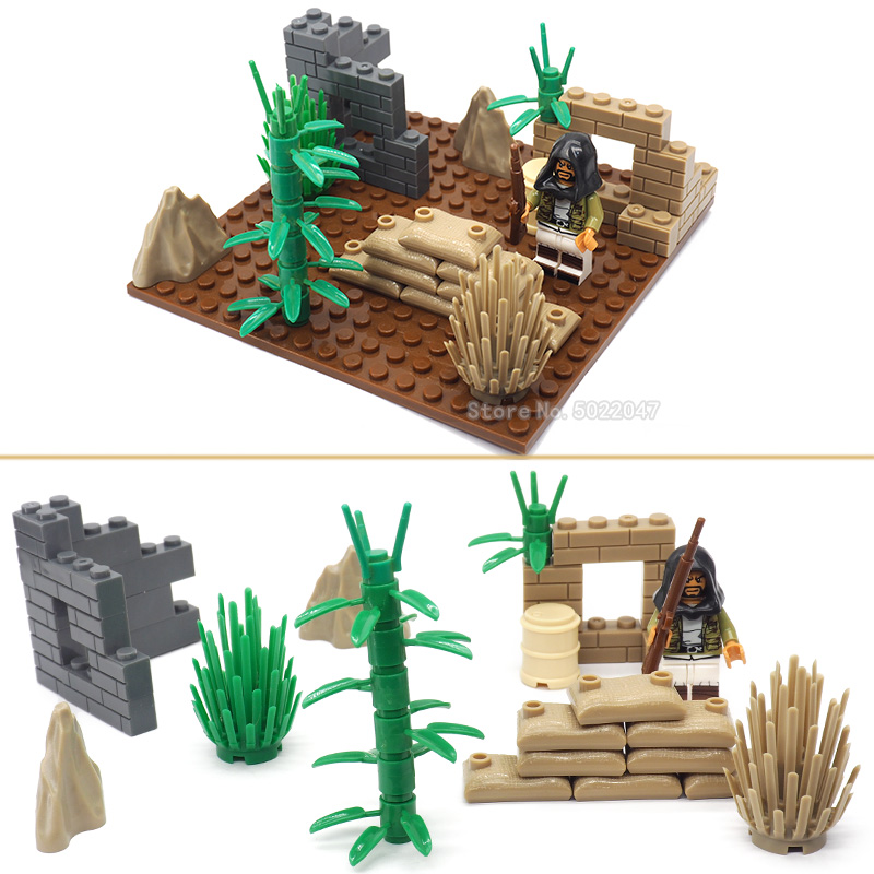Legoinglys Military Moc Battlefield Building Blocks World War 2 Special Forces Army Defensive Figures Weapons Gift For Boy Toy