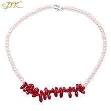 Ожерелье jyx с подвеской в виде красного коралла элегантное