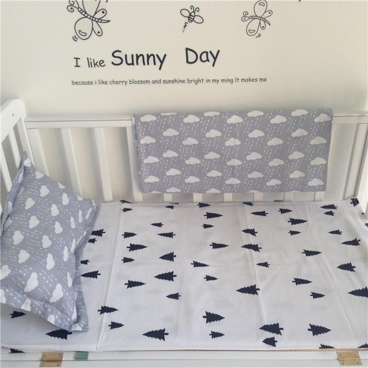 Gratis forsendelse Ny ankomne Hot Ins barneseng sengelinned 2 stk baby sengetøj sæt omfatter pudebetræk + sengetøj uden påfyldning