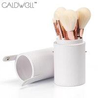 コールドウェルプロフェッショナルメイクブラシセット9ピース高品質合成ヤギ毛化粧ツールキットでチューブブラ