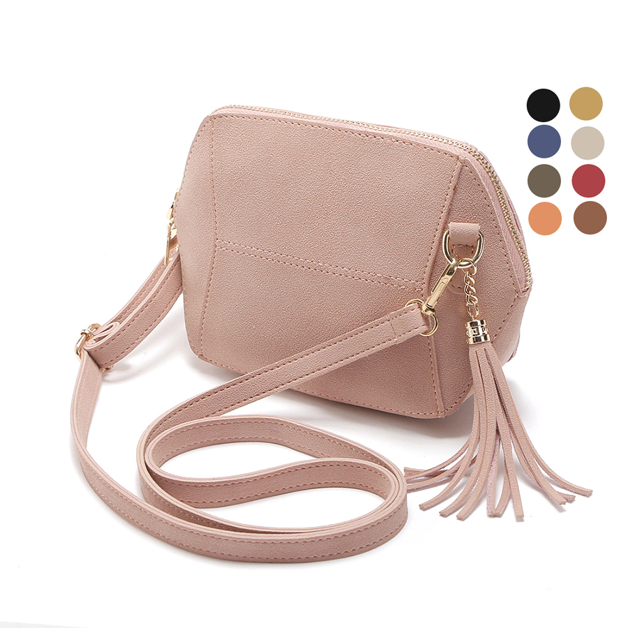 Fringe Crossbody Bag Women Suede Clutch Bag Girl Fashion Messenger Shoulder Handbags Ladies Beach Holiday Tassel Bags 10 colors