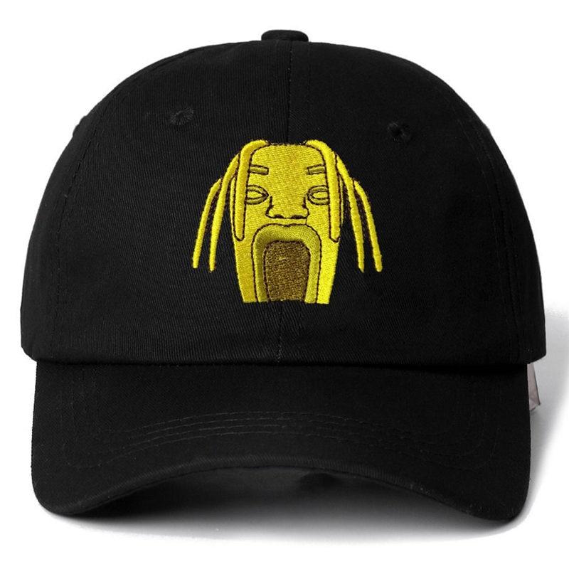4e567534fffe7 1 Pcs Gold Hat Travis Scotts Astroworld Cotton Snapback Cap Baseball Cap  For Men Women Hip