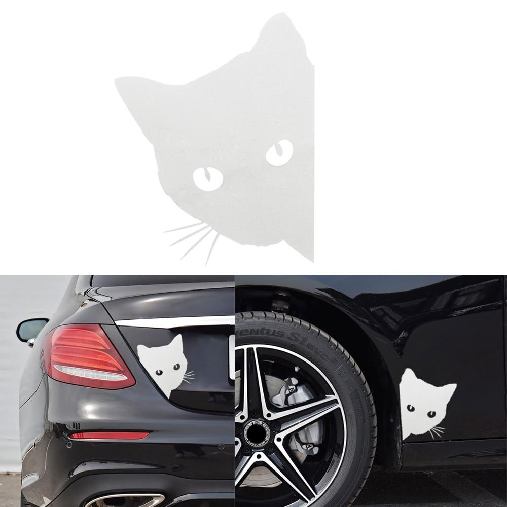 Window Bumper Decoration Funny Vinyl Cat Face Peering Vehicle Decal Car Sticker