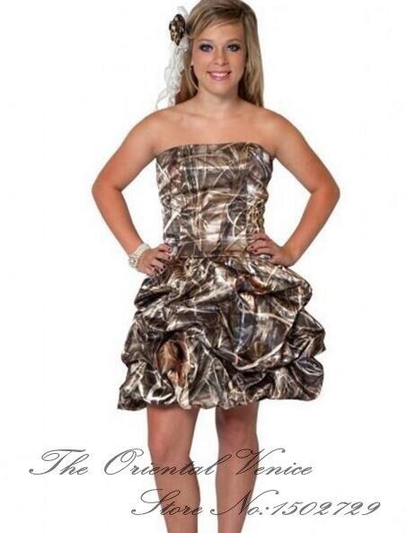 Popular Camo Wedding Dresses for Maid of Honor-Buy Cheap Camo ...