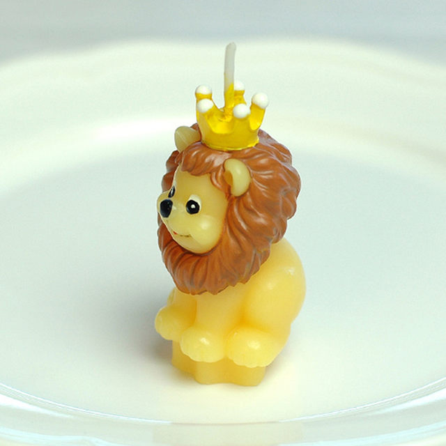 Online Shop Art Cake Topper Lion Candle Decoration Scented Small ...