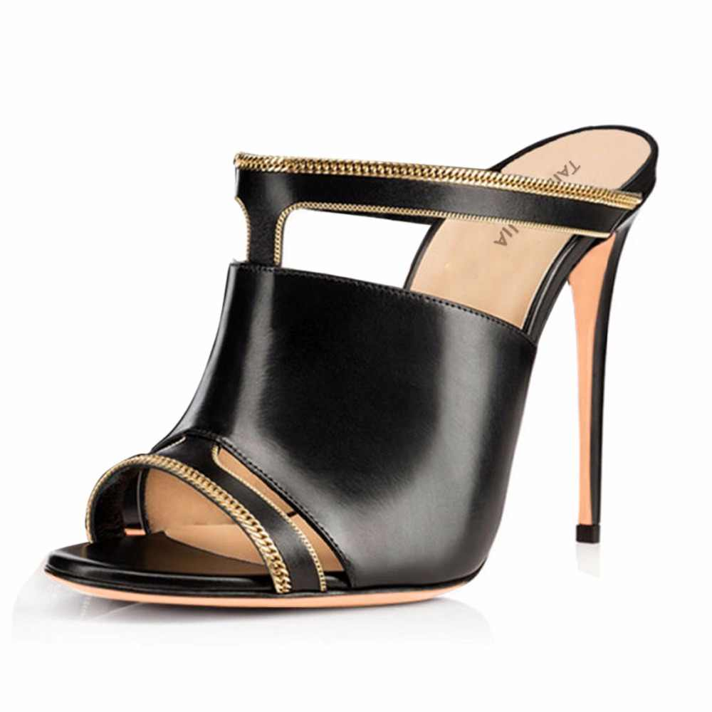 1256880aa8b7 ... Women Sexy Peep Toe Mules Red Python Pattern High Heel Sandals Black  Dress Shoes Ladies Summer ...