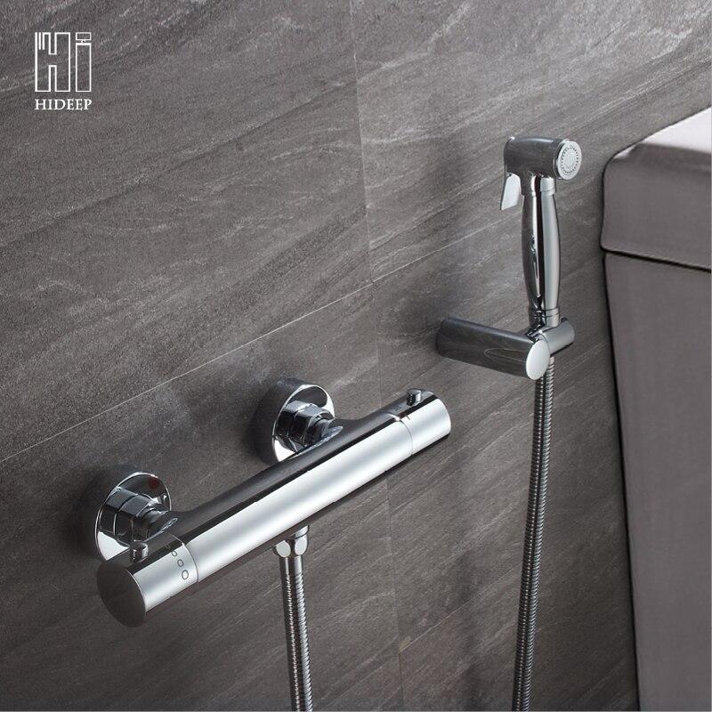 HIDEEP разбрызгиватель для туалета, биде ручной портативный биде душ матовый термостатический биде туалетное биде двойной режим