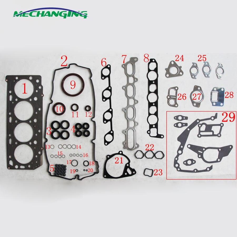 4D56T 4D56HP For MITSUBISHI L 200 2 5L DI D 4WD KB4T KA4T Engine Rebuilding Kits