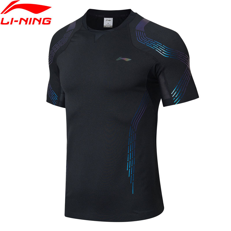Li-ning hommes Badminton T-shirts respirant confort à sec doublure sport compétition T-shirts hauts T-shirt AAYN309 MTS2890