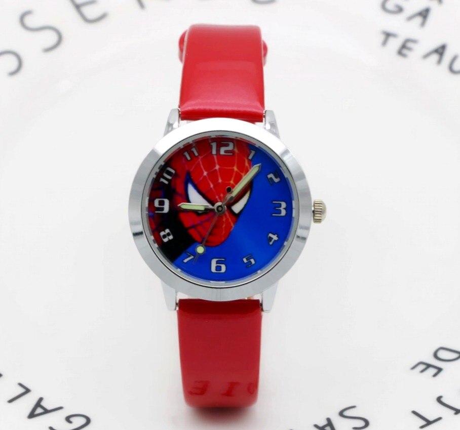 High Quality Waterproof Cartoon Quartz Watches For Student Boy Kids Child Gift Wristwatch Cool Spiderman Children Watch