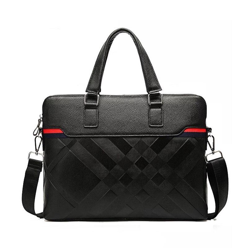 Brand Shoulder Leather Notebook bag 100% cow Genuine Leather Laptop