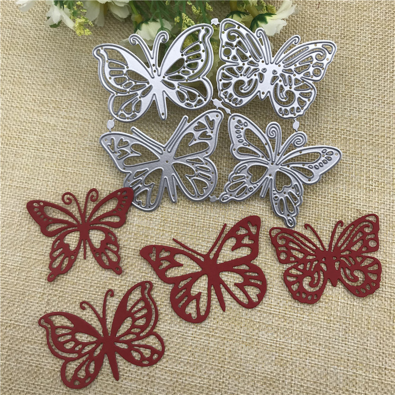 AOKEDIY 4pcs butterfly Metal Cutting Dies