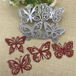 4pcs butterfly Metal Cutting Dies for DIY Scrapbooking Album Paper Cards Decorative Crafts Embossing Die Cuts(China)