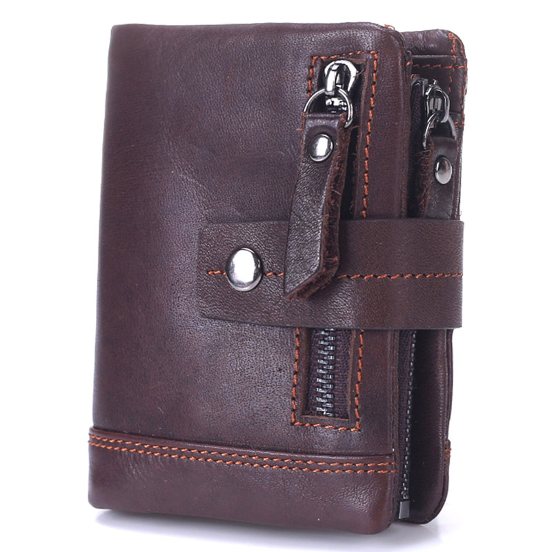 Luxury Vintage Casual 100% Real Genuine Cowhide Oil Wax Leather Men Short Bifold Wallet Wallets Purse Coin Pocket Male ZipperLuxury Vintage Casual 100% Real Genuine Cowhide Oil Wax Leather Men Short Bifold Wallet Wallets Purse Coin Pocket Male Zipper