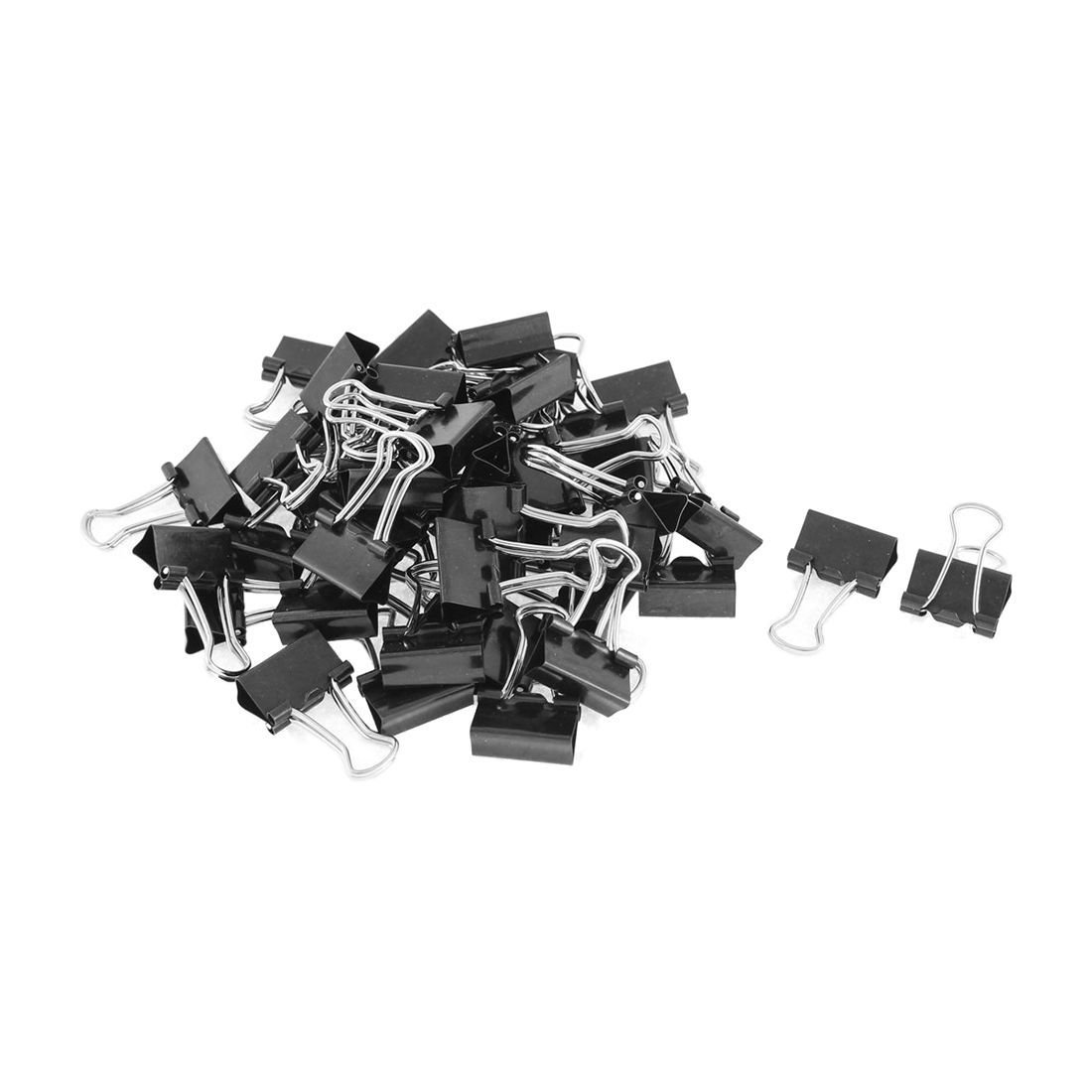 Metal Spring Binders Clip For Paper Document Office Stationery Paper Clips 15mm 48pieces Black
