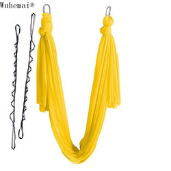 Wuhemai Antigravity Yoga Hammock Aerial Swing Hammock Yoga Chrysanthemum rope, yoga belt, yoga studio, gym inverted, training