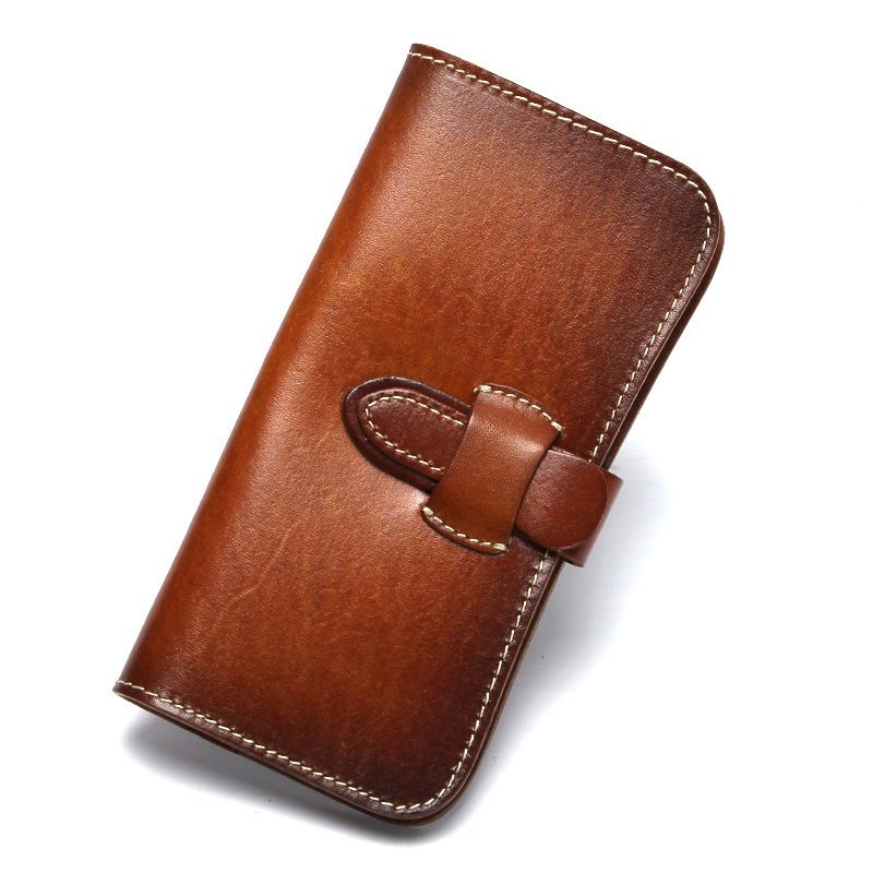 High Quality Wallet Vintage Luxury Frist Layer Genuine Leather Women Wallets Long Design Leather Female Wallets and Purses L104