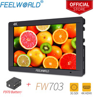 Feelworld FW703 7 inch On Camera DSLR Monitor Field 3G SDI 4K HDMI FULL HD 1920x1200 IPS Screen with Focus Video Assist Battery