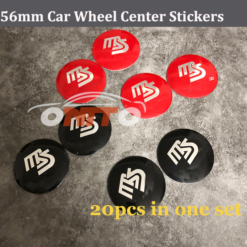 20pcs 56mm Modified Car Emblem Wheel Center Stickers for mazda CX 5 7 9 RX MPV MX MS Wheels Caps decal MS logo badge Stickers