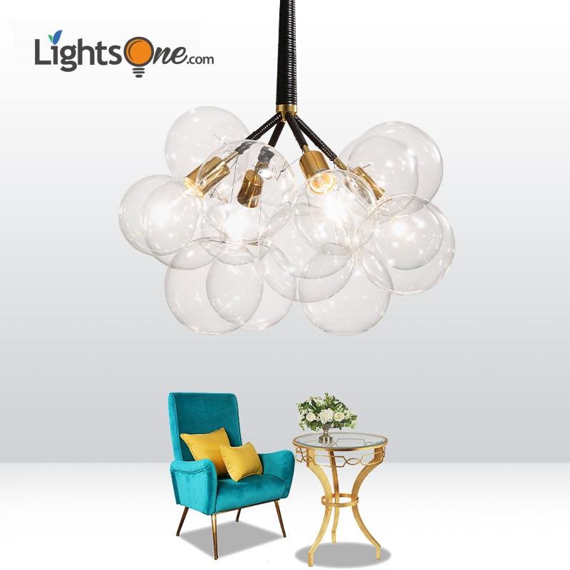 Postmodern Simple Bedroom Restaurant Cafe Study Kids pendant lamp Nordic Creative Glass Art air bubble pendant