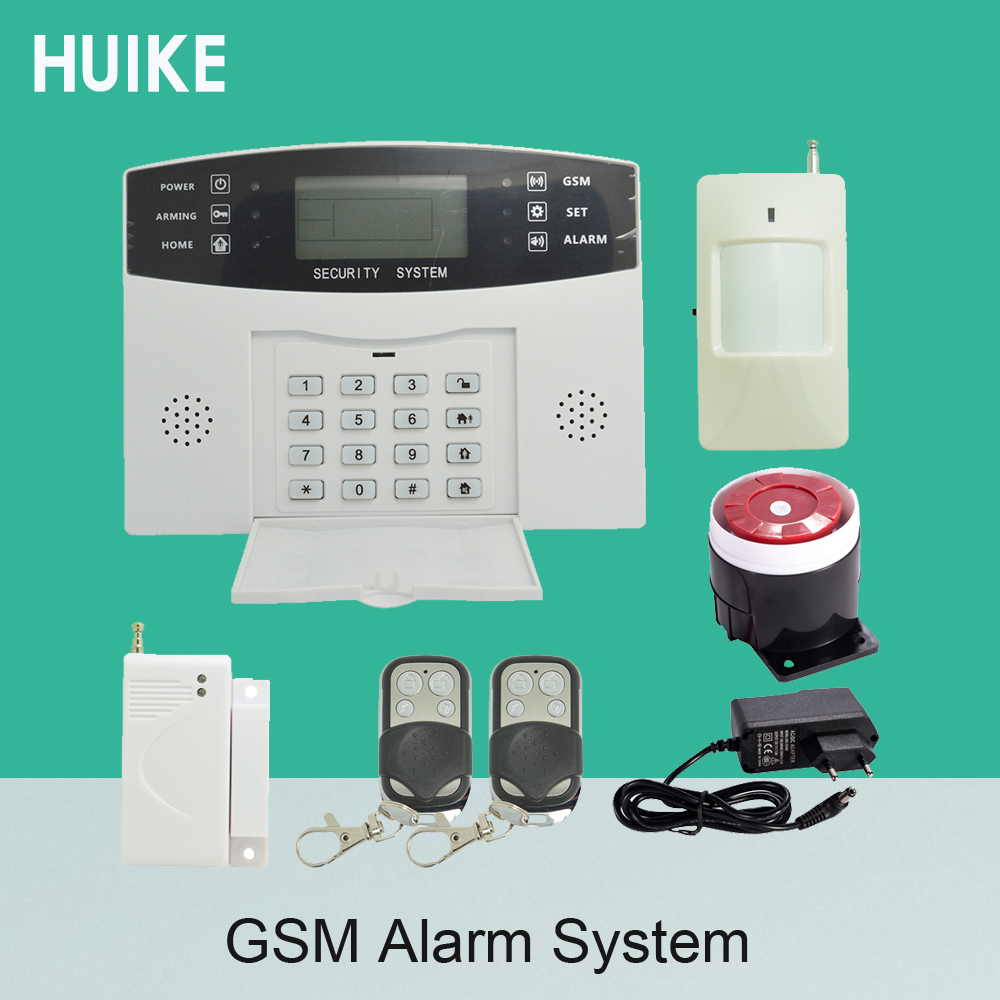 99 wireless and 4 wire zones GSM Alarm System Home Security Alarm 433Mhz Burglar Alarm Anti theft PIR Door Sensor Strobe siren