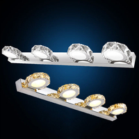 2016 moderna lámpara de pared de cristal de 62CM 12W 4 cabezas. Aplique decorativo luz para espejo de baño con LED de cristal para pared