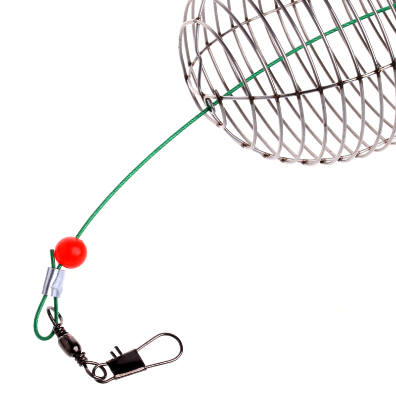 Bait Cage Fishing Trap Basket Feeder Holder Fishing Outdoor Tool Y