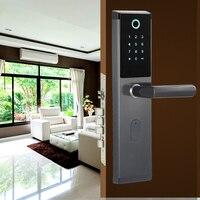 Security Biometric Fingerprint Door Lock Digital Electronic Combination Password Door Lock Smart Entry Office Home