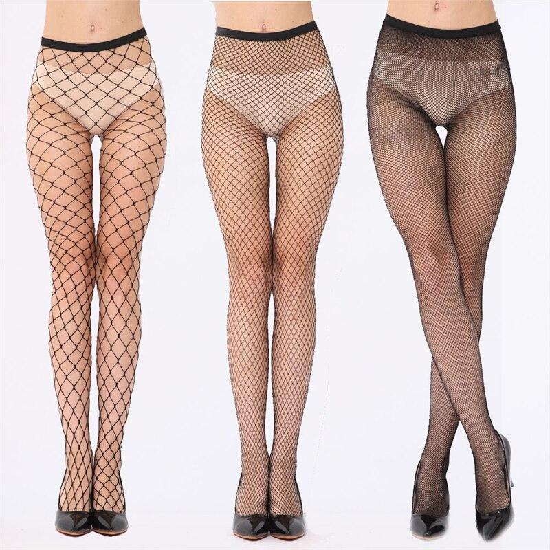 Elástico preto malha meias femininas sexy peixe net meia-calça feminina coxa longa meias altas sobre o joelho meias medias