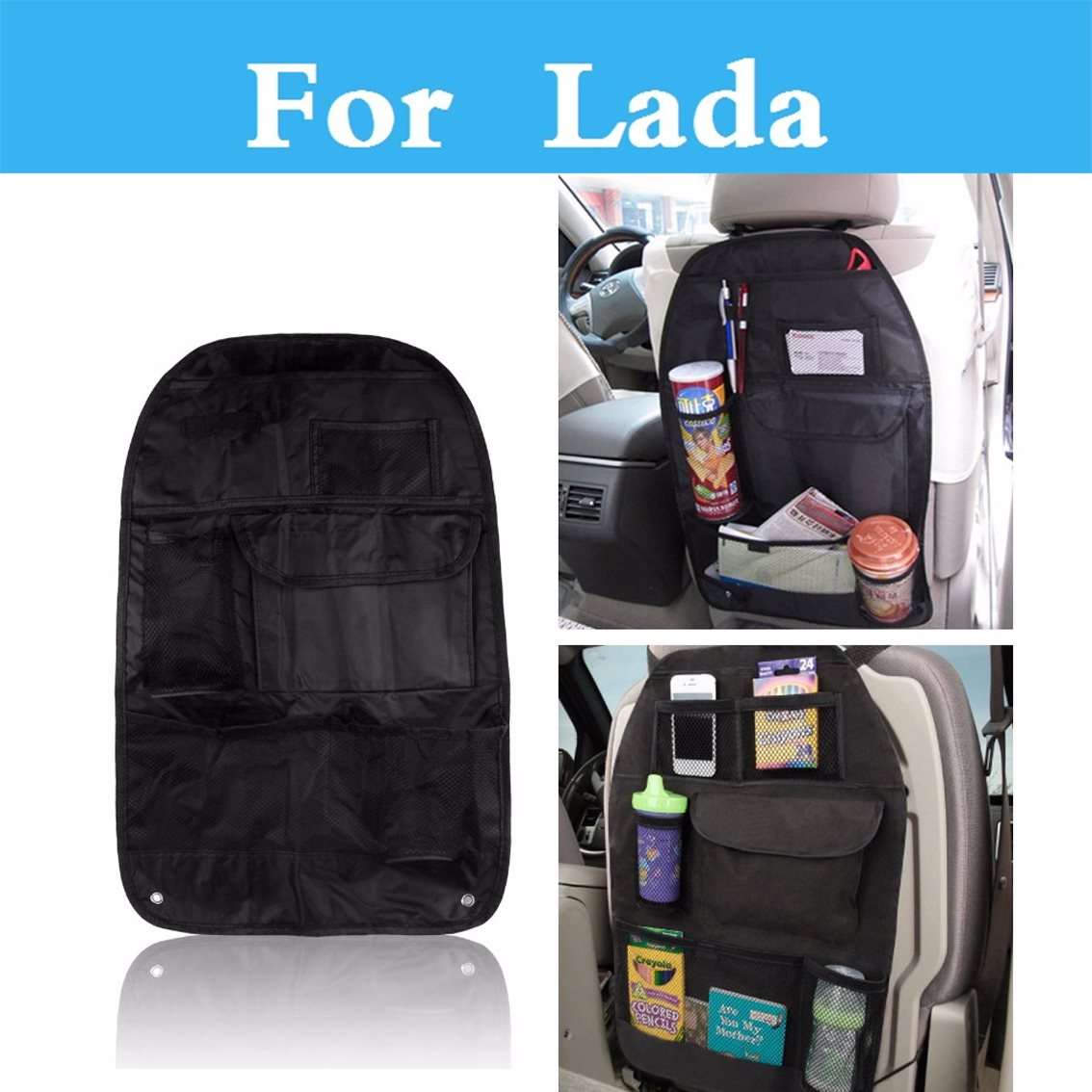 Car Seat Storage Hanging Bag Multifunction Vehicle Storage Box For <font><b>Lada</b></font> 1111 Oka 2105 2106 2107 <font><b>2109</b></font> 2110 2112 2113 2114 2115 image