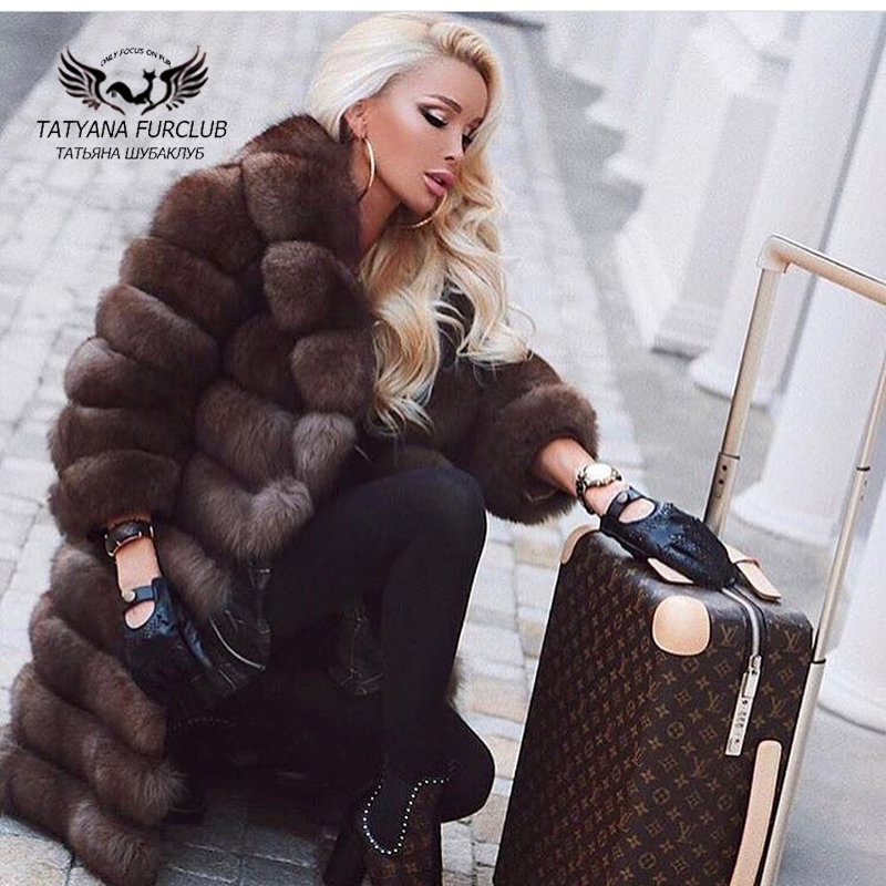 Tatyana Furclub Womens Real Natural Fox Fur Coat,Fur Coat Natural Fur Female Jacket Custom,Top Quality Winter Womens Fur Coat ...