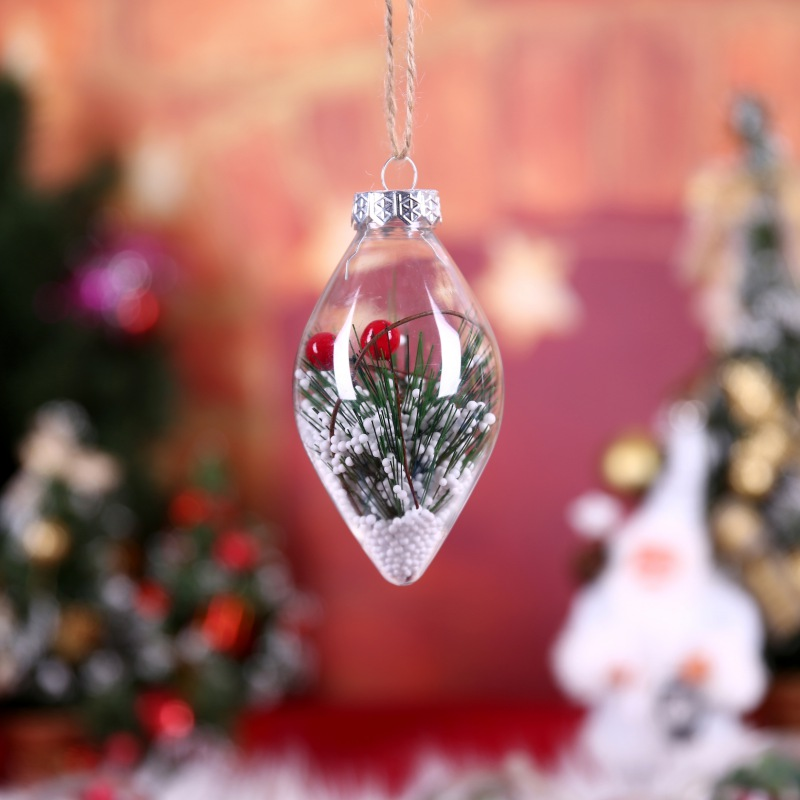 1pcs Christmas Tree Decor Ball Bauble Xmas Party Hanging Ball Ornaments Decorations for Home Christmas Decoration Gift