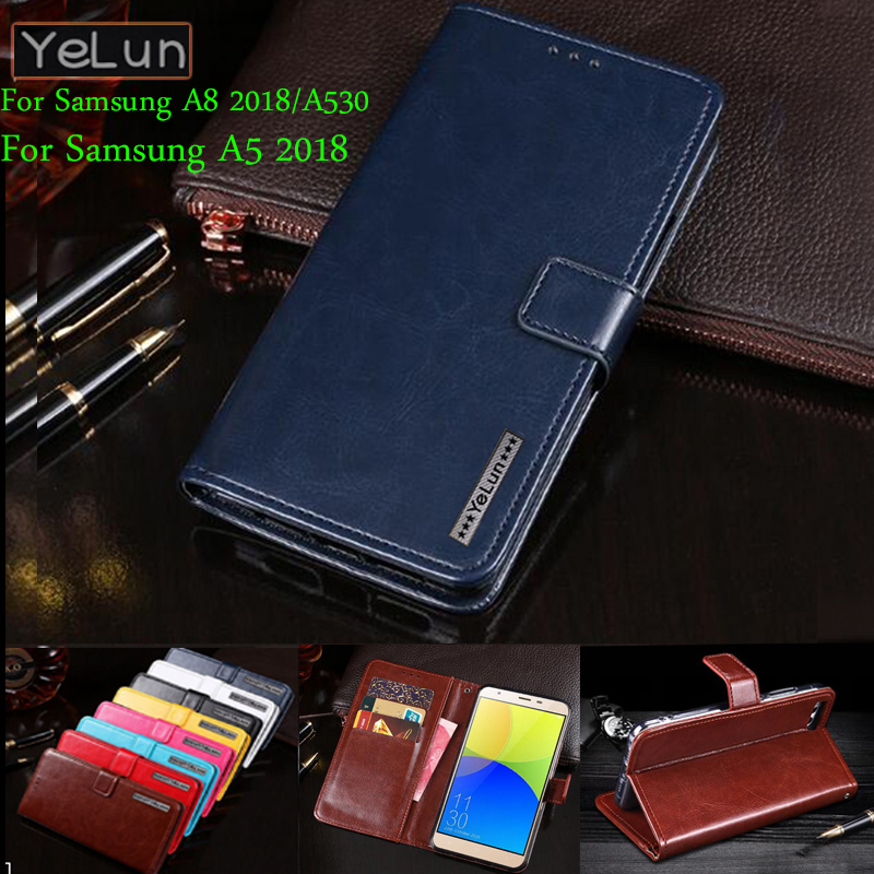 YeLun For <font><b>Samsung</b></font> Galaxy A8 2018/A530 Business PU Leather Wallet Flip Phone <font><b>Cover</b></font> Stand Capa For <font><b>Samsung</b></font> <font><b>A530F</b></font> <font><b>Cover</b></font> Phone Bag image